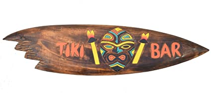 Tiki Bar Surf Junta 100 cm sur mar tabla de surf Hawaii colgantes.