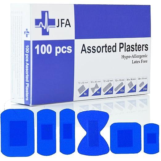 JFA Petit Traiteur BSI - Kit de primeros auxilios, con 100 tiritas azules: Amazon.es: Bricolaje y herramientas
