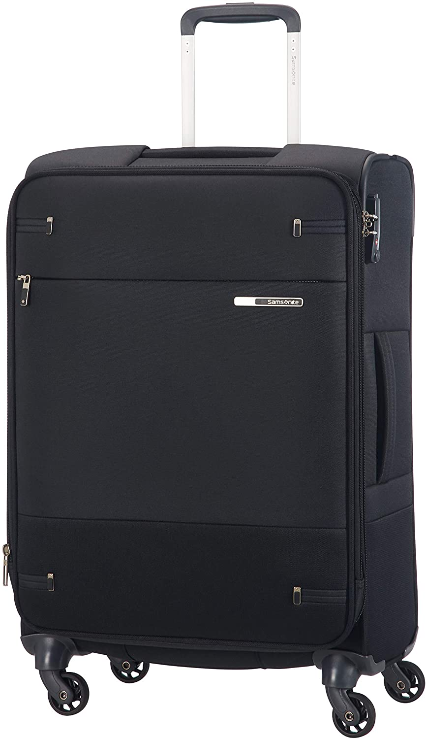 Samsonite Base Boost Spinner M Maleta Expansible, 66 cm, 67.5/73.5 L, Negro (Black)