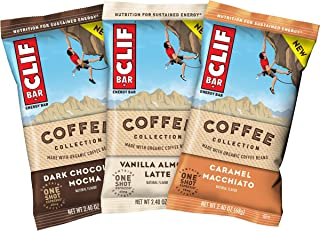 product image for CLIF BARs with 1 Shot of Espresso - Energy Bars - Coffee Collection - Variety Pack - 65 mgs of Caffeine Per Bar (2.4 Ounce Breakfast Snack Bars, 15 Count)