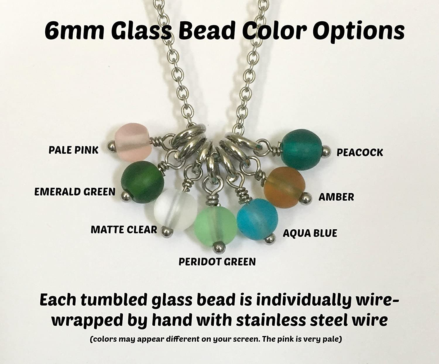 Tumbling colors hand wrapped wire and sea glass necklace with pearls