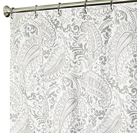 Extra Long Shower Curtain Paisley Fabric Shower Curtains 96 Inch ...