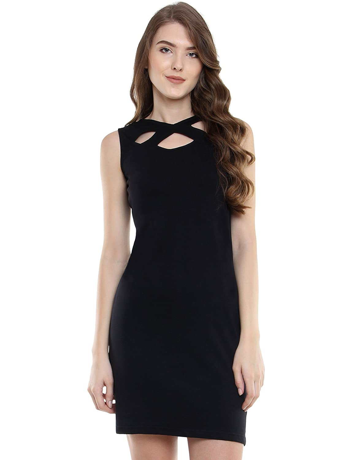 f74a42d4ebf Miss Chase Womens Black Mini Bodycon Dress