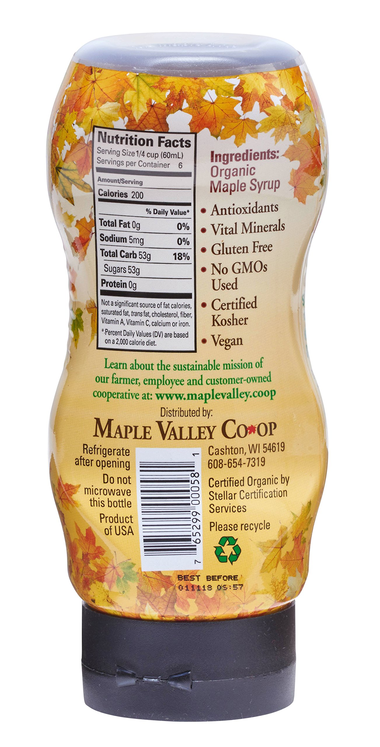 Maple Valley 12 Oz. Squeeze Bottle Grade A Dark & Robust (1 Pack) by Maple Valley (Image #2)