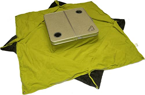 Tablanket Picnic Table with Gray Tabletop and Lime Green Blanket