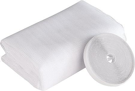 5 x DACHFENSTER Fliegengitter Insektenschutz 140 170 cm Klettband weiß