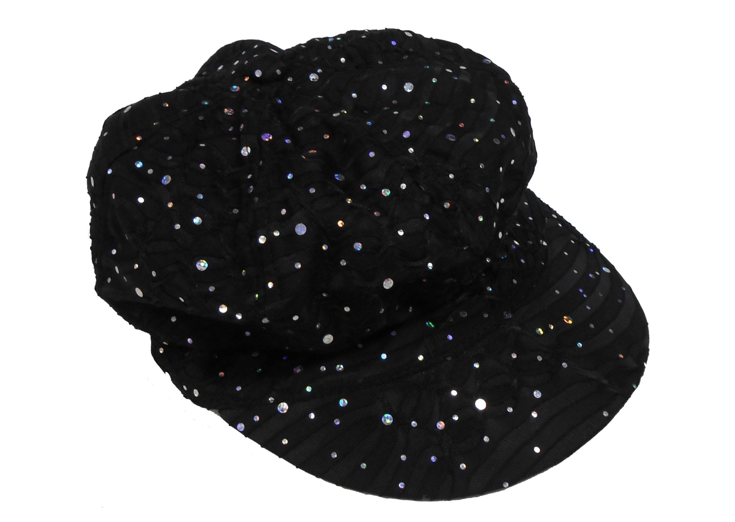 Sparkle Newsboy Caps (Black)