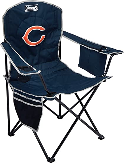 Coleman Cooler Quad Portable Camping Chair Blue Renewed