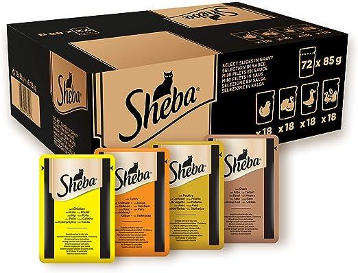 Sheba Selection in Sauce - Comida para Gatos en Paquete Fresco, pienso húmedo para los Momentos de mimo Diario: Amazon.es: Productos para mascotas