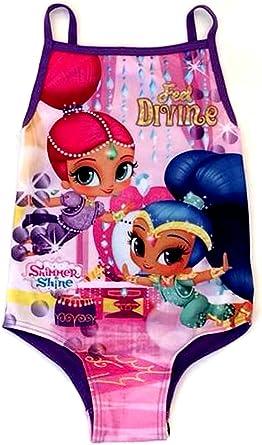 GIRLS KIDS SHIMMER AND SHINE SWIMMING COSTUME ONE PIECE SWIMSUIT SWIMWEAR