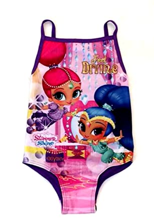 d9b35b540f Girls Shimmer and Shine Swimsuit, Swimming Costume - Ages 2/3, 3/4,4/5, 5/6  yrs: Amazon.co.uk: Clothing