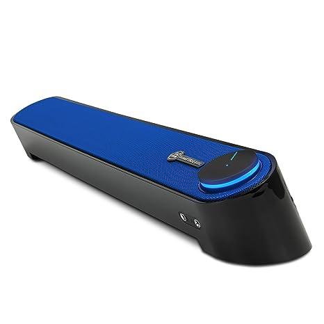 GOgroove Altavoz Barra de Sonido con Micrófono | Altavoz Kit de Sonido para PC y TV