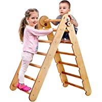 Kids Climber - Triangle Ladder - Toddler Gym Indoor Playground - Climbing Toys for Toddlers 1 3 5 y.o