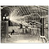 Nikola Tesla's Lightning Equipment Photograph - 11x14 Unframed Photo Print - Makes a Great Gift Under $15 for Inventors…