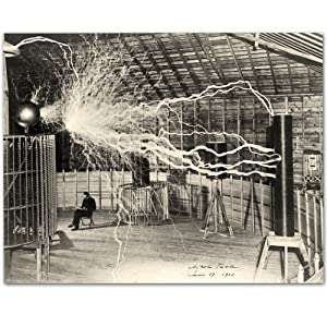 Lone Star Art Nikola Tesla's Lightning Equipment - 11x14 Unframed Print