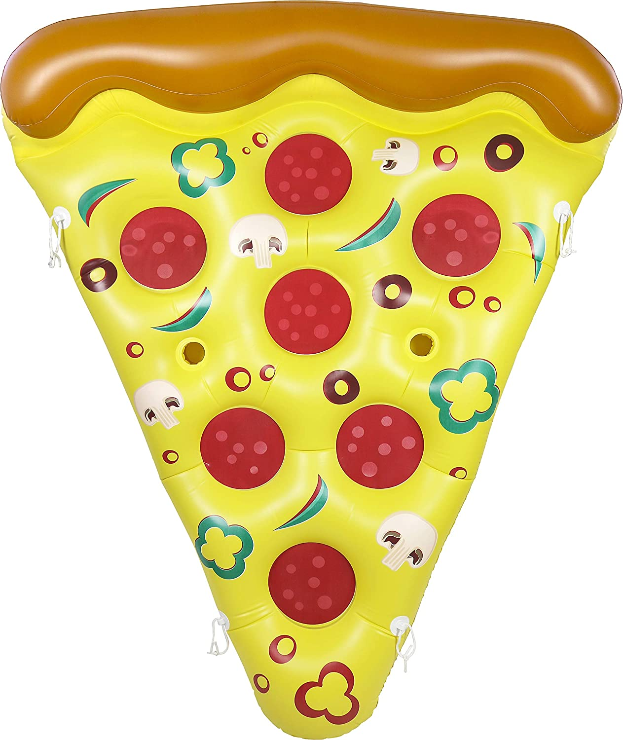 Greenco Giant Inflatable Pizza Pool Float Single, 75 x 61 Inches
