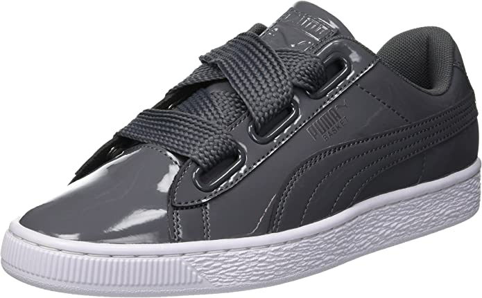 Puma Basket Heart Patent Sneakers Damen Grau (Iron Gate)