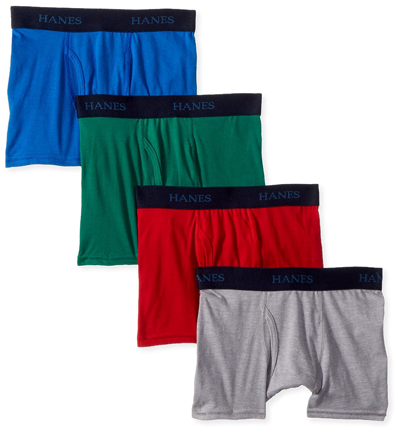 Hanes Boys' Big Ultimate Dyed Boxer Brief 4-Pack BUBD4A