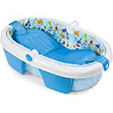 Summer Foldaway Baby Bath – Convenient Baby Bathtub that Compactly Folds for Easy Storage and Travel – Includes Removable Inc