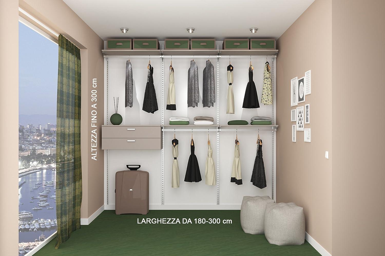Alucabina cabina armadio su misura completa di tutti accessori