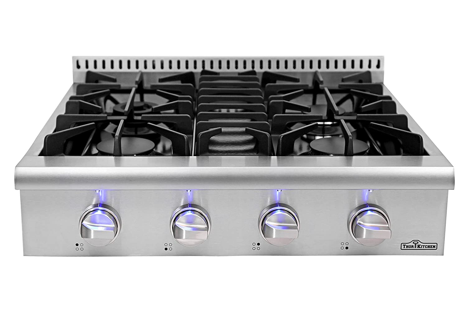 Amazon.com: Kitchen & vida pro-style Gas rangetop con 4 ...