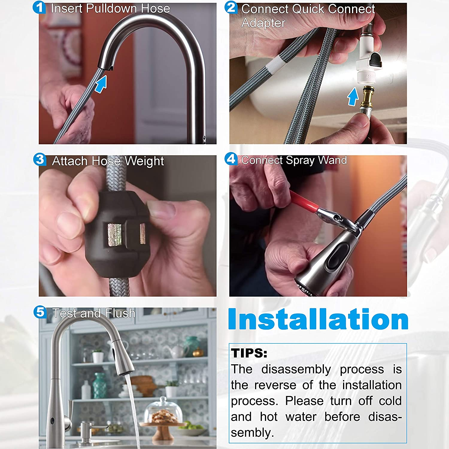 159560 replacement hose kit for moen
