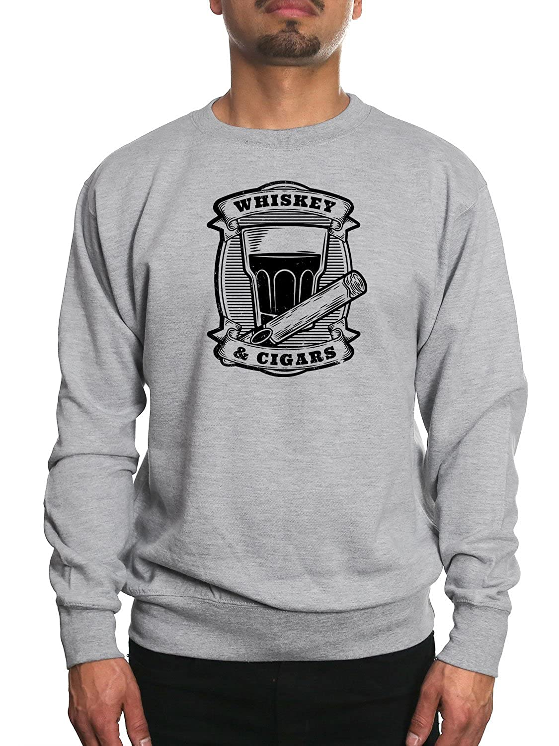 Young Motto Men's WHISKEY & CIGARS Sweatshirt 16364127-SW