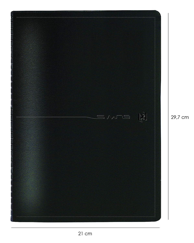 21 x 29,7cm D/écembre 2020 Couverture Noir OXFORD Swing Agenda Civil 2020 Semainier A4 Agenda Janvier