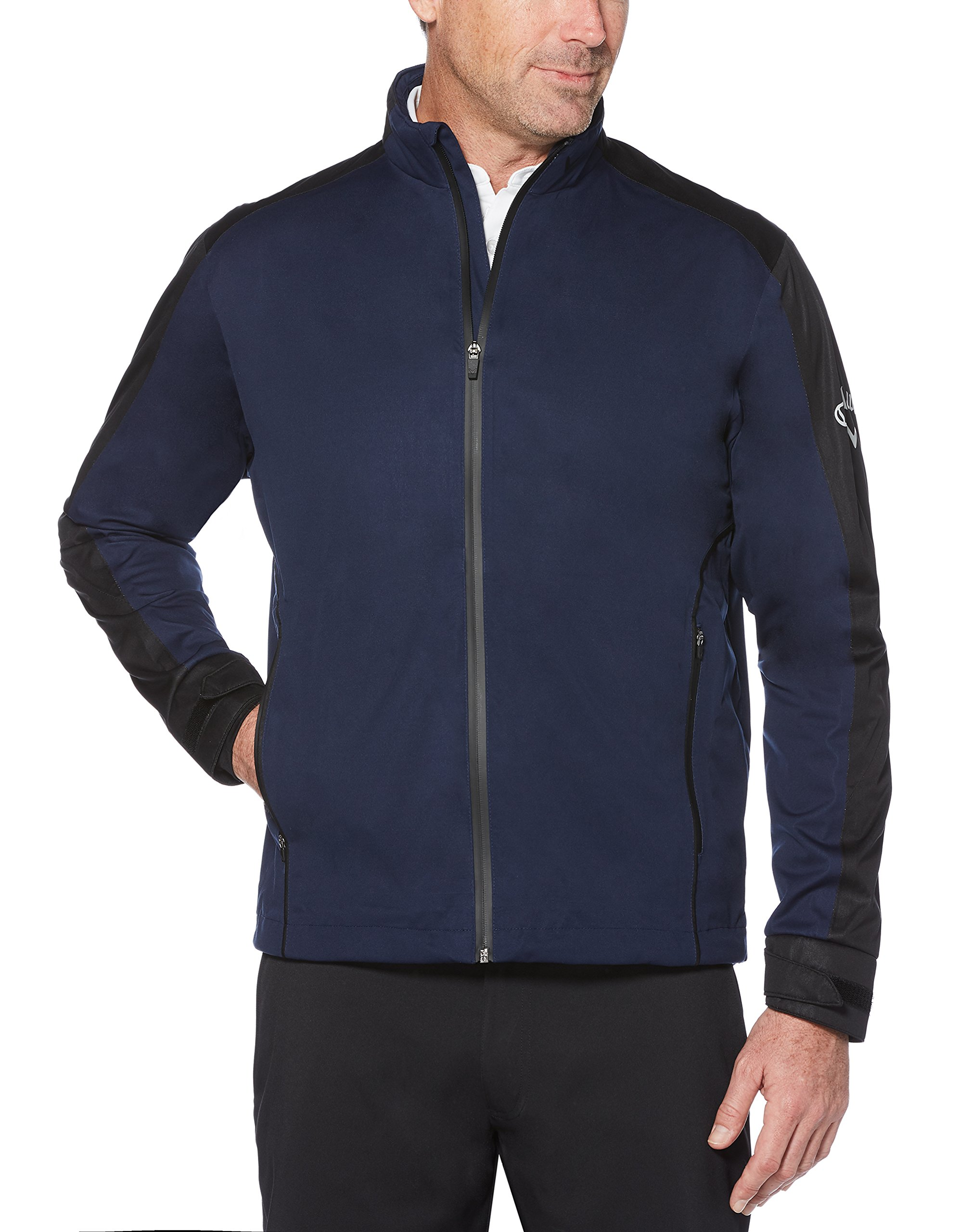 Callaway Men's Waterproof Full-zip Golf Jacket, Peacoat, Large by Callaway