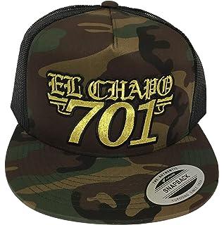 Capsnmore El Chapo Guzman 701 Hat Black Camo Mesh Snapback