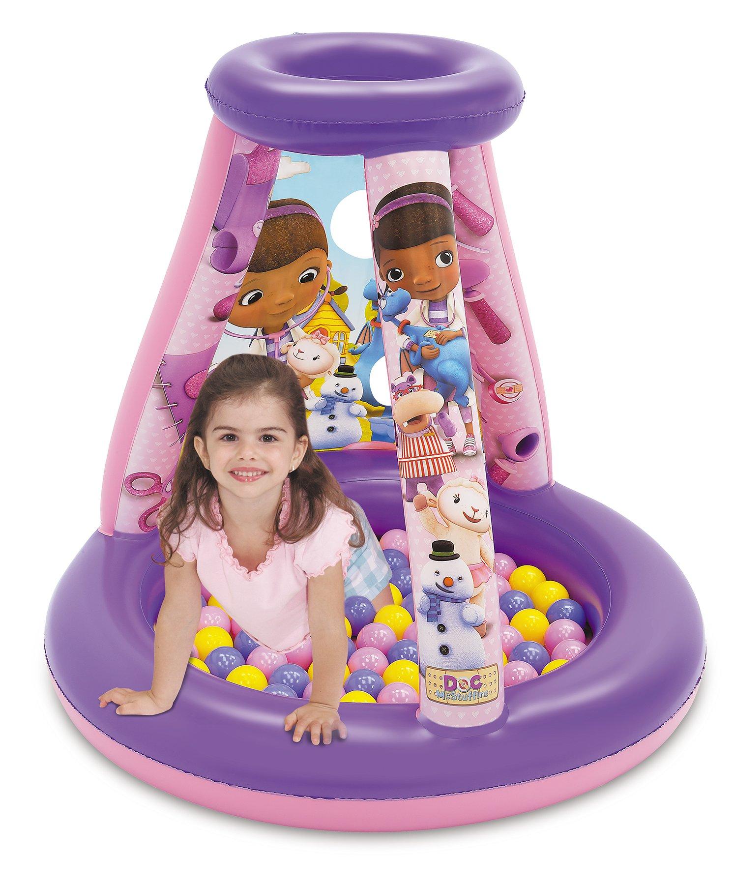 Doc McStuffins Friendship is The Best Medicine Ball Pit, 1 Inflatable & 15 Sof-Flex Balls, Purple/Pink, 28'' W x 28'' D x 33'' H by Doc McStuffins (Image #2)