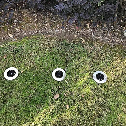 8 LED Solar Power Buried Light,Pingtr Waterproof Sun Light 12LED Solar Power Buried Light Under Ground Lamp Outdoor Path Way Garden Decking