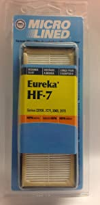 DVC Brand Micro Lined Eureka HF-7 HEPA Vacuum Filter Series 2270B 2271 2900 2970 No. 471038