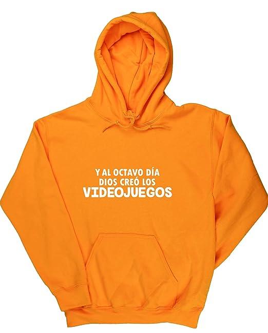 HippoWarehouse Y Al Octavo Día Dios Creó Los Videojuegos jersey sudadera con capucha suéter derportiva unisex: Amazon.es: Ropa y accesorios