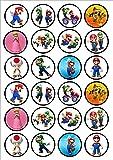 24 Super Mario Bros Edible PREMIUM THICKNESS