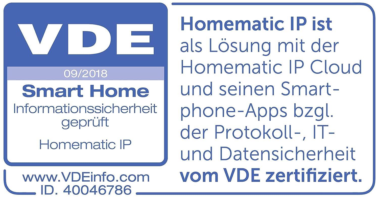 wei/ß Homematic IP 153412A0 HmIP-eTRV-B Heizk/örperthermostat smart