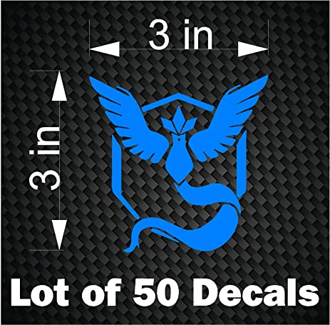 Bulk lot 50 pokemon go vinyl decals stickers team mystic decal