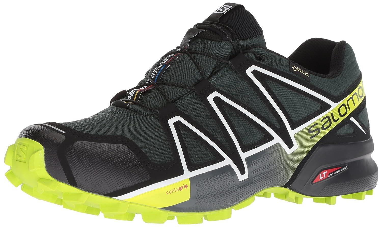 Vert (Darkest Spruce noir Acid Lime) 44 EU Salomon Speedcross 4 GTX, Chaussures de Randonnée Homme