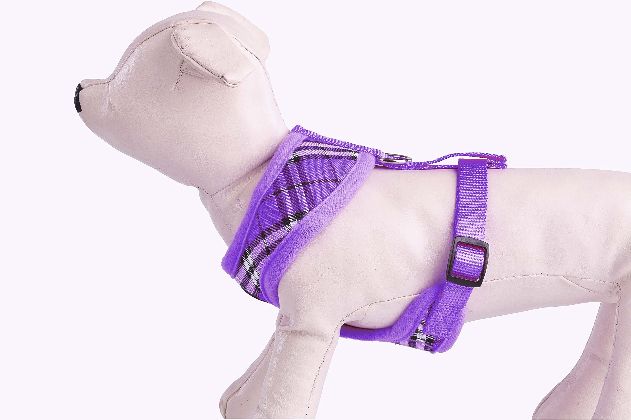 PUPTECK Soft Mesh Dog Harness Pet Puppy Comfort Padded Vest No Pull Harnesses, Purple Medium by PUPTECK (Image #5)