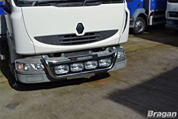 Para Renault Midlum Barra de lámpara de parrilla de acero C ...