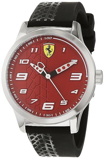 Scuderia Ferrari Reloj Analógico para Niños de Cuarzo con Correa en Silicona 840021: Amazon.es: Relojes