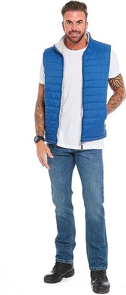 Aumsaa Mens Lightweight Quilted Puffer Puff Gilets Jacket Coat