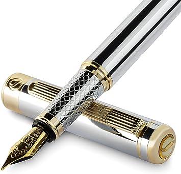 2 Stücke Luxus Feine Feder Füllfederhalter Tintenschreiber Smothly