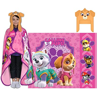 Nickelodeon's Paw Patrol Cutie Pups Cozy Hat and Throw Wrap Set: Home & Kitchen