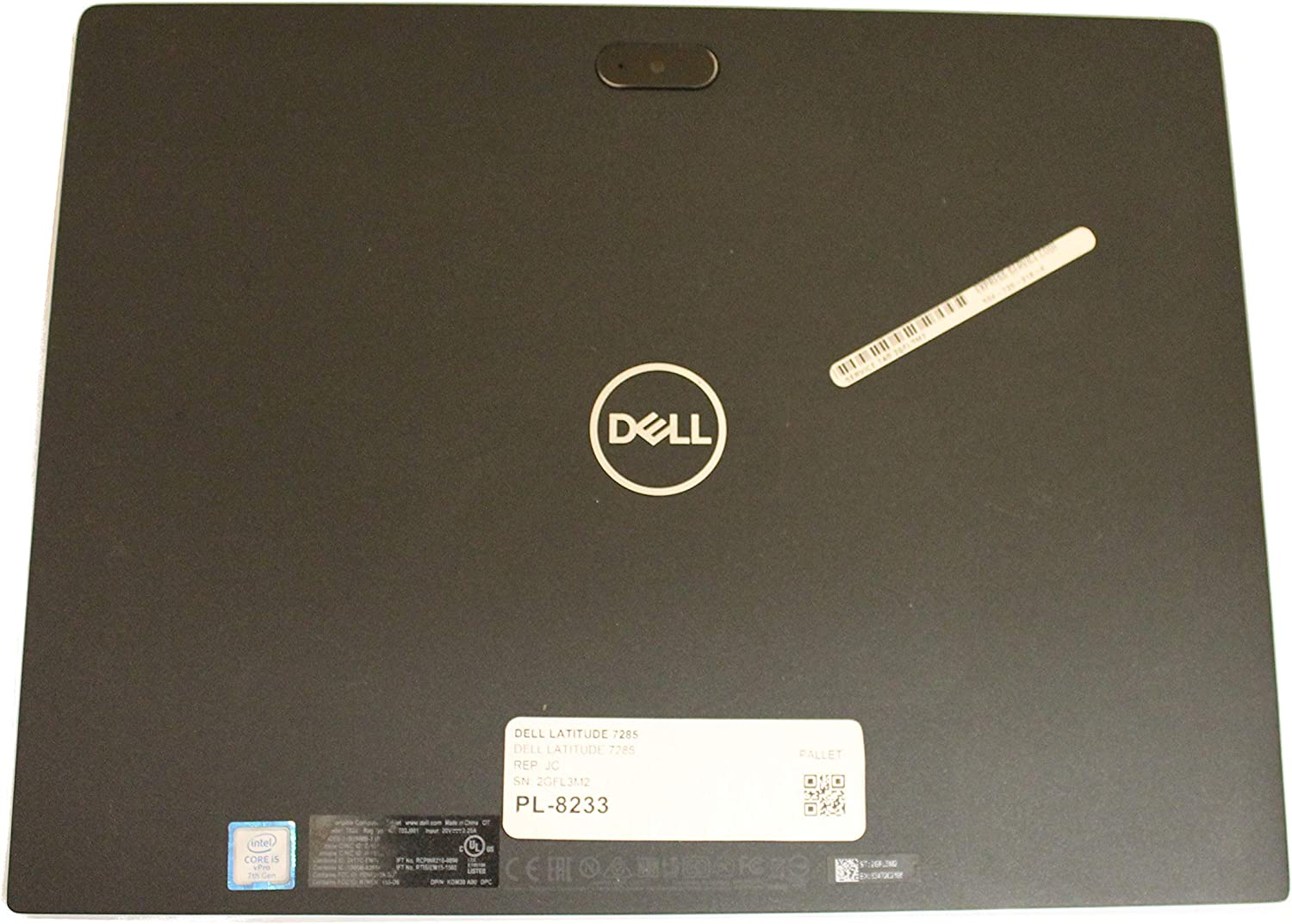 N8TF9 Dell Latitude 7285 Genuine LCD Back Cover w/Antenna R9P7P FTWKY JNCGJ MM2NC