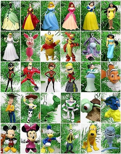 ornament disney 30 piece christmas set featuring beloved disney characters - Disney Christmas Characters