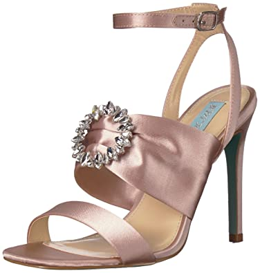 649e30c45e5a2 Blue by Betsey Johnson Women s SB-SCOTI Heeled Sandal Nude Satin 6.5 ...