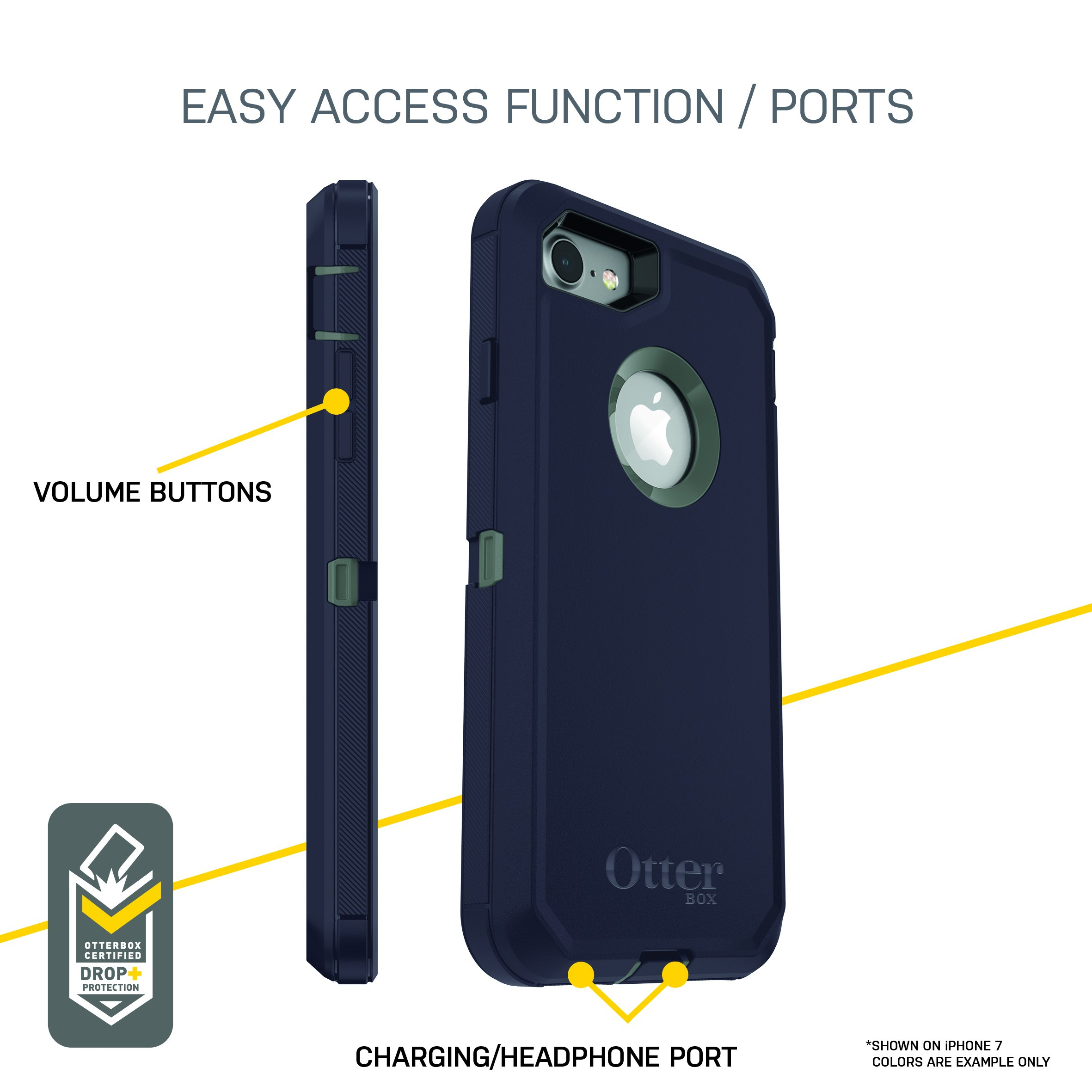 OtterBox DEFENDER SERIES Case for iPhone 8 & iPhone 7 (NOT Plus) - Frustration Free Packaging - PURPLE NEBULA (WINSOME ORCHID/NIGHT PURPLE) by OtterBox (Image #6)