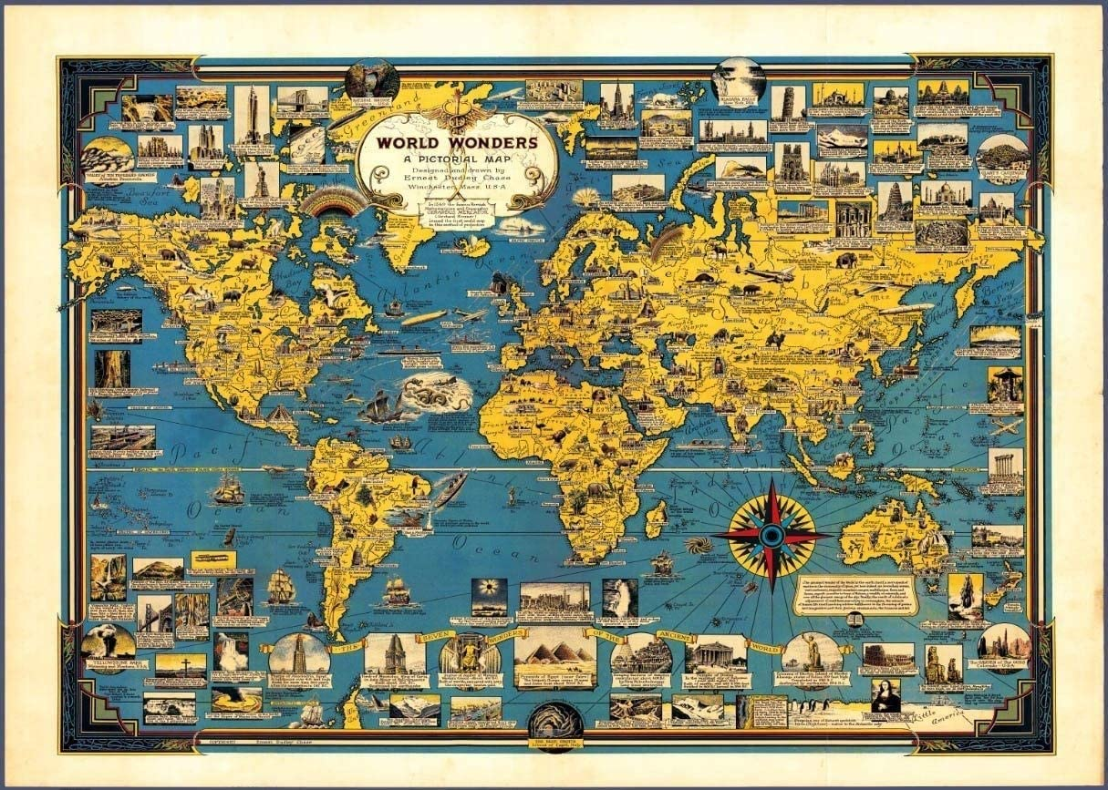 GJM Juguetes educativos Juegos de Puzzles for Adultos de los niños, 1000/1500/2000/4000 Piezas -Maravillosa Mapa del Mundo, Juego Educativo del Regalo de cumpleaños, Juguete de descompresión Familiar: Amazon.es: Juguetes y juegos