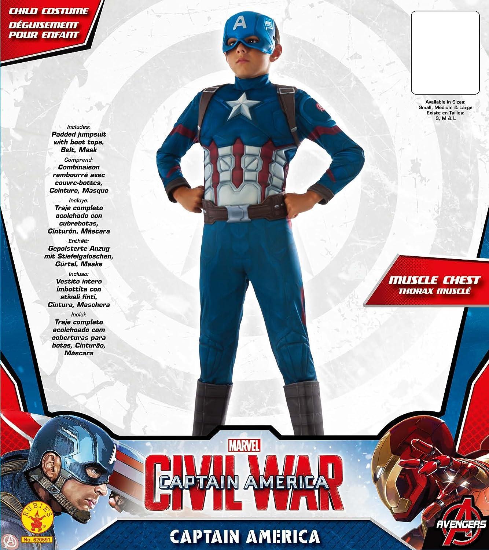 Rubies Costume Captain America: Civil War Deluxe Captain America Costume, Large
